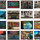 collage of my art by Lisa  Marie Peaslee