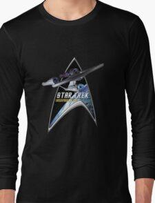 StarTrek Command Silver Signia Enterprise 1701 A Long Sleeve T-Shirt
