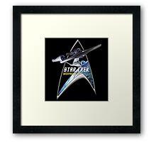 StarTrek Command Silver Signia Enterprise 1701 A Framed Print