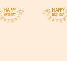 Happy Birthday bunting by jazzydevil