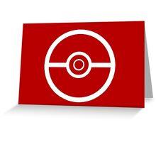 Pokemon Pokeball 3 Greeting Card