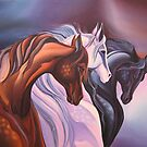 Horse painting, Handwork, Oil painting on canvas by diasha
