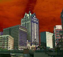 Downtown Milwaukee River Walk ©  by Dawn M. Becker