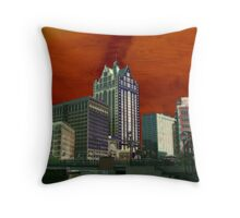 Downtown Milwaukee River Walk ©  Throw Pillow