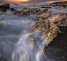 Kaikoura limestone ridge line by Ken Wright