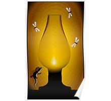 Night chimney light Poster