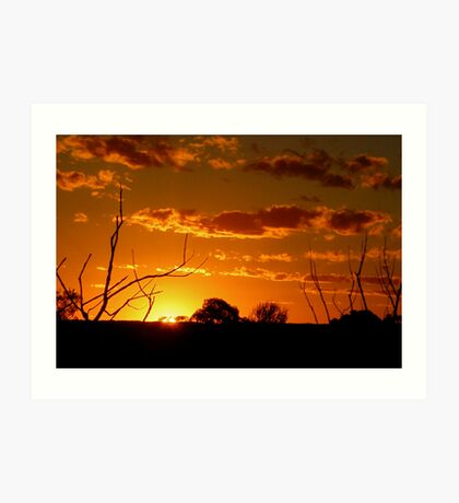 Desert Sunset. Art Print