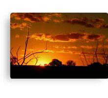 Desert Sunset. Canvas Print