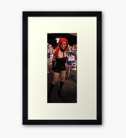 Marching drag Framed Print