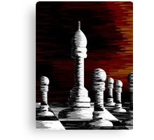 Digital painting of chess canvas Canvas Print