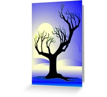 tree with leafless and dry branches Greeting Card