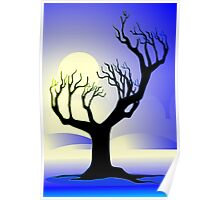 tree with leafless and dry branches Poster