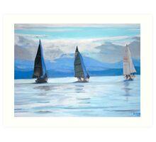 2007-Sailing Race, Vancouver Island Art Print