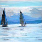 2007-Sailing Race, Vancouver Island by Teresa Dominici
