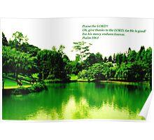Picture w Bible verse - Botanic Garden Psalm Poster
