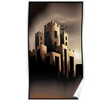 Digital painting of building Poster