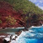 Red Sand Beach by Inge Johnsson