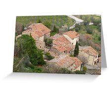Tuscany - Roof tops Greeting Card