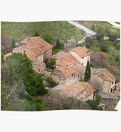 Tuscany - Roof tops Poster