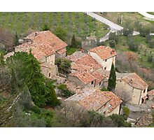 Tuscany - Roof tops Photographic Print