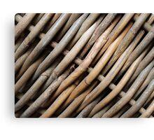 Weaving basket Canvas Print