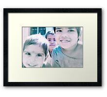 the world in his eyes Framed Print