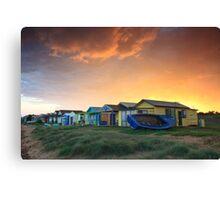 Campbells Cove Boat Sheds Canvas Print