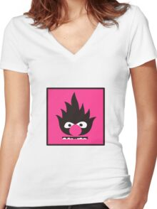 EXTREMELY FLANIMAL Women's Fitted V-Neck T-Shirt