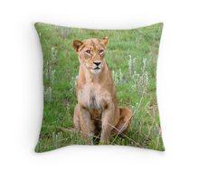 Female Lioness, Pretoriuskop, Kruger Park Throw Pillow