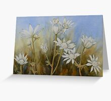Flannel flowers Greeting Card