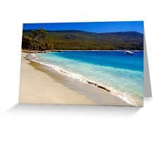 A glorious Bruny Island beach, Tasmania Greeting Card