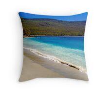 A glorious Bruny Island beach, Tasmania Throw Pillow