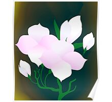 Digital painting of flowers Poster