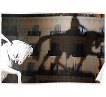 Shadowy horseman Poster
