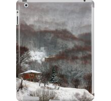 Brown brushstrokes on white iPad Case/Skin
