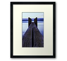 Sunset at the boat launch Framed Print