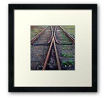Tracks Of The Railway Framed Print