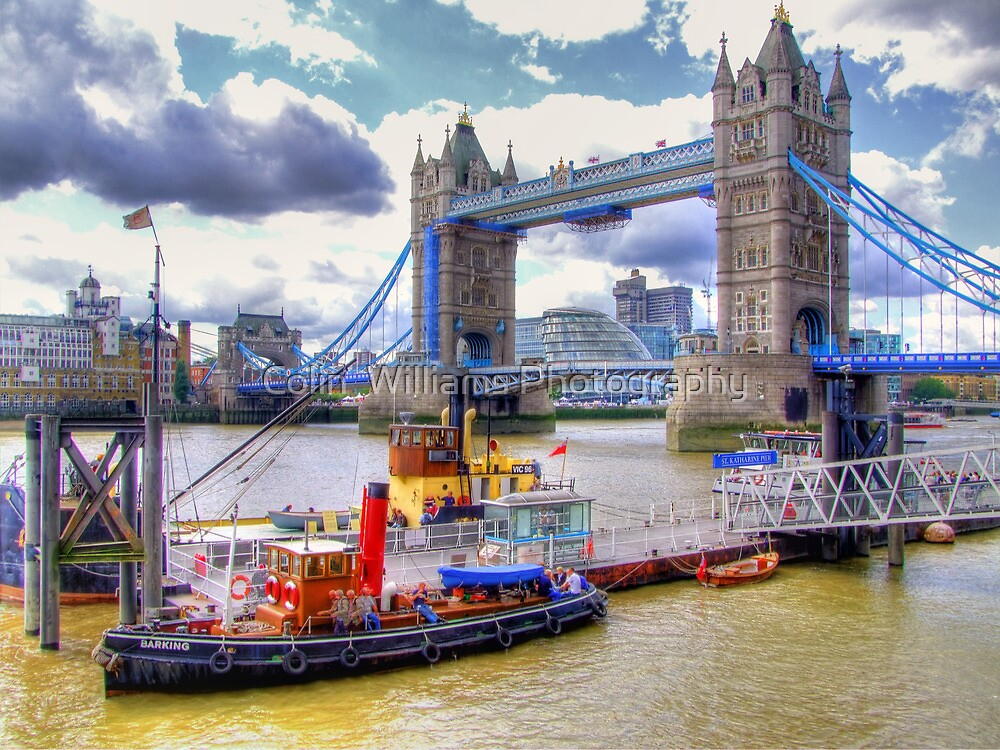 Steam Tug 'Barking' on the Thames at Tower Bridge - HDR by Colin  Williams Photography