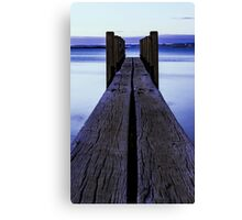 Sunset at the boat launch Canvas Print