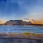 Sunset over Table Mountain by Debbie Schiff