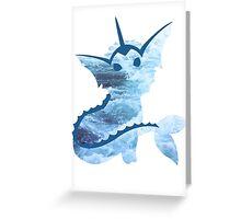 Vaporeon Waves Greeting Card