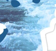 Vaporeon Waves Sticker