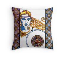 Neart agus Cosaint: Strength and Protection Throw Pillow