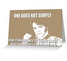 Slighted by Other Men Greeting Card