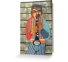 Clarinet Solo Greeting Card