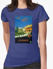 France Normandy Vintage Travel Poster Restored T-Shirt