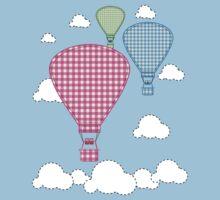 Plaid Hot Air Ballons by artz-one
