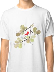 Bird perched on a tree Classic T-Shirt