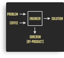 Engineering Sarcasm By-product Canvas Print