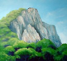 Castle on the hill top by Carole Russell